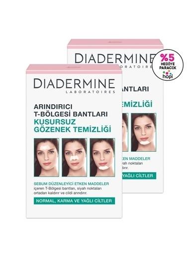 Diadermine Diadermine Arındırıcı T Bölgesi Bantları Kusursuz Gözenek Temizliği 2'Li Renksiz